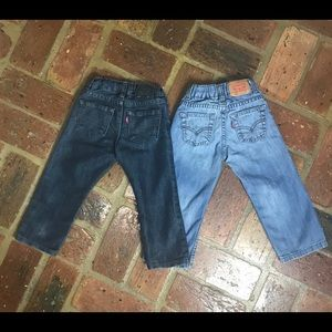 2 Pair of Levi's Adjustable Waist 511 & 549 SZ 2T